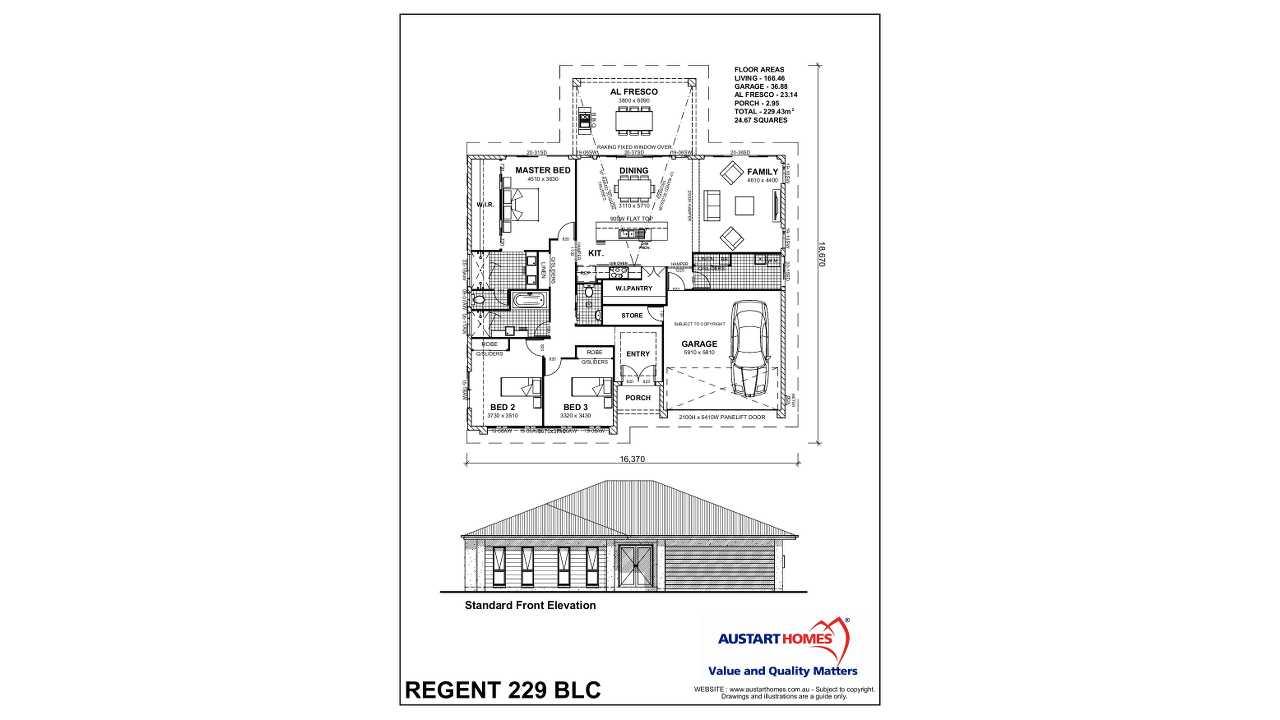 regent 229 blc 2600 premier plus austart homes